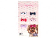 Show Tech Polka Dot Bows with clip 6 pcs Bows For Dogs