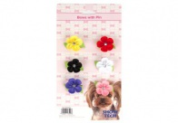 Show Tech Daisy Bows with clip 6 pcs Bows For Dogs