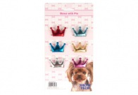 Show Tech Royal Bows with Clip 6 pcs Bows For Dogs