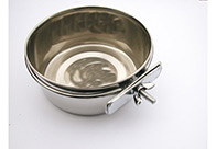 Show Tech Coop Cup Bolt-On Stainless Steel 8 cm - 150 ml Feeding Bowl For Dogs