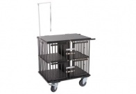 Show Tech All-in-One Show trolley 4 berth Black 95x65x100cmh Trolley for Dogs