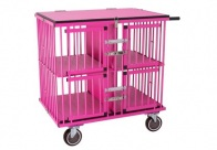 Show Tech All-in-One Show trolley 4 berth Pink 95x65x100cmh Trolley for Dogs