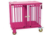 Show Tech All-in-One Show trolley 2 berth Pink 78x54x83cmh Trolley