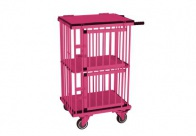 Show Tech All-in-One Show trolley 2 berth Double Decker Pink 55x44x100cmh Trolley