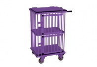 Show Tech All-in-One Show trolley 2 berth Double Decker Purple 55x44x100cmh Trolley