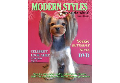 Magazine Drop Coats Yorkie Maltese Shih Tzu Dvd Magazine For