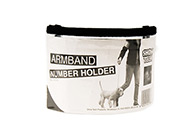 Show Tech Armband Number Holder 160x90mm Number Holder For Groomers