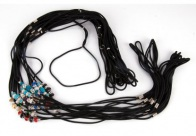 Show Tech Nylon Show Lead 70cm with Swarovski Beads Mixed Colours (max diam. 40cm)