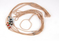 Show Tech Nylon Show Lead 70cm with Swarovski Beads Mixed Colours (max diam. 40cm)