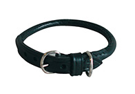 Dapper Dogs Round Leather Collar For Dogs