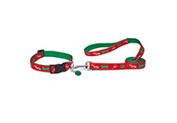 Zack & Zoe Xmas Naughty or Nice Lead Red 2,5x180cm Christmas Lead For Dogs