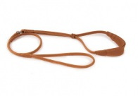 Dapper Dogs Comfort Show Lead Round Leather S 5mm Tan Leather Comfort Lead