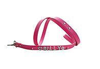 Show Tech Rhinestone Leash Dark Pink M1.5X122cm Lead
